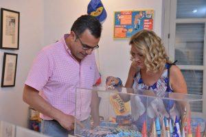 Nicosia Mayor at REGIS 65 years exhibition